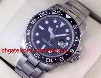 Wholesale Military Royale Watches - Luxury Wristwatch II 116710 Stainless Steel Bracelet Black Ceramic Bezel Mens Wrist Watches Automatic Mens Sports Watch