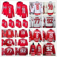 Wholesale Oshie Jersey - 2018 Washington Capitals Hockey 8 Alex Ovechkin 43 Tom Wilson 77 T.J. Oshie Nicklas Backstrom 70 Braden Holtby 92 Evgeny Kuznetsov Jersey