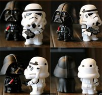 Wholesale Wholesale Sale Models Figures - HOT sale top quality 2Pcs 1set in Box Q Star War Darth Vader storm trooper Action Figure Model Toy For Kids D486