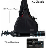 Wholesale Dslr Sling Bag - DSLR Camera Shoulder Bags Video Photo Digital Sling Cross Bag Case Waterproof with Rain Cover for Canon Sony Nikon Pentax K1 K2