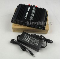 Wholesale Mini Amplifiers Lepai - 2014 new LEPAI-168 2.1 -channel mini HIFI amplifier home desk car small amplifier 40W *2 +68 W (with power supply)