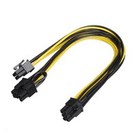 Wholesale Vga Prices - Wholesale- Factory Price 6pin PCI Express to PCIe 8 (6+2) pin & 6pin Motherboard Graphics Video Card PCI-e GPU VGA Splitter Hub Power Cable