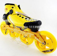 Others speed skate boots - speed skates with yellow boots black boots matter wheels