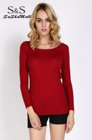 Wholesale Cheapest Sweater Dresses - Cheapest Women Sexy Sweater Dress Medium Long Slim O-Neck Basic Sweater New Style Knitted Sweater Free Size#16 18
