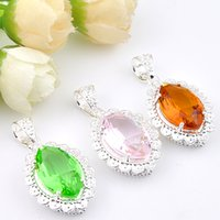 Mix Style 3pcs / Set Atacado Holiday Jewelry Gift Classic Crystal Gems 925 Sterling Silver Pendant p1202p1200p120101