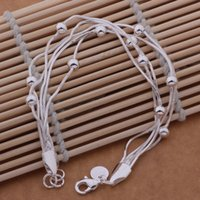 Wholesale Cheapest Beads Factory - Wholesale-Lose money promotion 2015 Cheapest Sale Fashion Sterling silver 925 Beads chain bracelet Factory Price