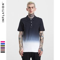 Wholesale Man Change - 2017 18 Fashion Hot Men's POLO Shirt | 100% COTTEN New glittering culture shirt Gradient change candy color clothing graduated street style