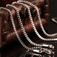 Wholesale gift boxes prices - Popular stainless steel box chain necklace 1.5MM 18-20inches fashion jewelry Top quality factory price free shipping