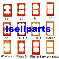 Wholesale Glasses Mold - 12pcs lot Top quality OCA UV Glue Mould LCD glass Mold For Samsung S For Iphone 6 4.7inch 6+ Plus 5.5 Inch Holder