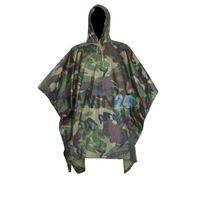 Wholesale Hunting Poncho Rain - Tactical Airsoft Sniper Hunting Realtree Adult No Transparent PVC Rain Poncho Cycling Camping Hiking Plastic Raincoat Tent Mat