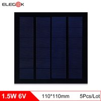 Wholesale Cell Phone Testing - ELEGEEK 5PCS 1.5W 6V 110*110 PET Laminated Silicon Solar Cell Polycrystalline Mini Solar Panel for DIY Test Solar System and Education