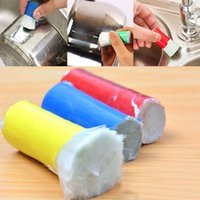 Wholesale Cleaning Magic Stick - 2pcs Lot Magic Stick Stainless Steel Decontamination Cleaning Brush Metal Rust Remover Cleaning Stick Wash Brush Pot WX9-159