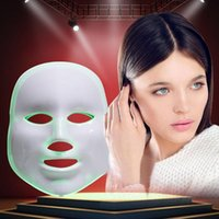 Wholesale Green Led Light Beauty - Fast shipping !!!7 colors photon PDT led facial mask blue green red light therapy beauty device For For Skin Rejuvenation Wrinkle Removal