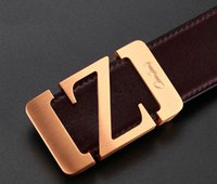Wholesale Brass Needles - 2017 new hot designer belts men high quality solid brass buckle luxury 100% real full grain genuine leather belts