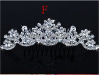 Wholesale Head Hair Pieces - Best Selling Bridal Fascinators With Rhinestone Head Pieces Crystal Bridal Headbands Tiaras Crowns Wedding Hair Accessories