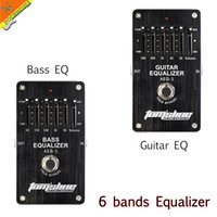 Wholesale Band Bass - Wholesale- AROMA 6 Bands EQ Effects Pedal Guitar Bass Equalizer Pedal Stompbox low mid high frequency adjustable True Bypass Free Shipping