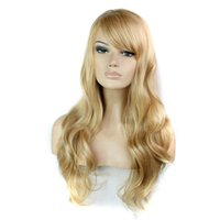"Wholesale American Girl Blonde - 30"" synthetic hair wigs for black women heat resistant african american wigs cosplay blonde black lolita wig"