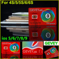 Wholesale Gevey 4g - Gevey Sim Card New E-paper Sim unlock for iOS 5 6 7 8 9 Gevey.US unlocking for iPhone 4s 5s 6 6plus 6S WCDMA CDMA GSM 4G 3G