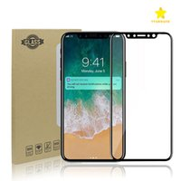 Wholesale Iphone Curved Covers - For iPhone 8 Plus iPhone X 3D Full Cover Color Tempered Glass Soft Edge Screen Protector for iPhone8 7 Plus with Box Package
