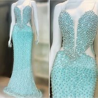 Wholesale Cheap Cut Out Prom Dresses - 2016 Pearls Evening Dresses Mermaid With Sweertheart Cut out Sexy Prom Dress Cheap Women Dress Summer
