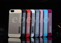 Wholesale Wholesale Best Iphone 4s Cases - New Motomo Metal + PC Dot Cell Phone Case Cover For Apple iPhone 4 4S 5 5S 6 Plus iphone4 iphone5 Best Rugged Cases Free shipping