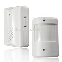 Wholesale 120M Infrared White Wireless Home Security Motion Detector Sensor Human Body Induction Doorbell Driveway Alarms order lt no tr