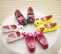 Wholesale 4 Color Cat Girls Favorite Cartoon PU Shoes new Children Fashion Candy color lovely princess Shoes B001