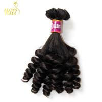 Wholesale hair weave uk resale online - 3PCS Grade A Aunty Funmi Hair Unprocessed Virgin Indian Human Hair Weave Bundles Bouncy Spring Egg Curls Hair Extensions For UK Nigeria