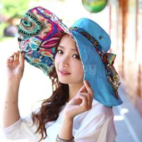 Wholesale Simple Straw Hats - Wholesale-2015 Classical Simple Design Wide Brim Summer Hat For Women Floppy Sun Cap Beach girls straw hats