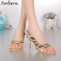 Sorbern Women Bridal Wedding Shoes Sexy Crystal Women Sandals Buckle Rhinestone Ladies Party Shoes Тонкие каблуки Дешевые Модные Горячие продажи