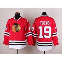 Wholesale Quick Shipment - Ice Hockey Jerseys Blackhawks #19 Jonathan Toews Red Hockey Uniforms High Quality Mens Hockey Wears Cheap Teams Hockey Shirts Fast Shipment