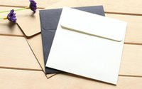 Wholesale Envelopes For Greeting Cards - Free Shipping 100PCS LOT 10*10cm Kraft Square Mini Blank Envelopes for Membership Card   Small Greeting Card   Storage Paper Envelopes