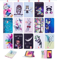 "Wholesale Panda Anti Dust - For Samsung Tab A 8.0"" 2017 T380 T385 Cartoon Panda Owl Stand Leather Case Flip Flower Wallet Pouch Butterfly Smart Cards Slot Cover 30pcs"