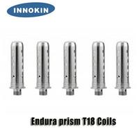innokin değiştirme bobin kafaları toptan satış-Innokin Endura T18 Kitleri için orijinal Innokin Endura prizması T18 T18E T22 Yedek Bobinler 1.5ohm atomizer kafası