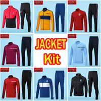 Wholesale Men Grey Jacket - AAA+ Quality NEYMAR JR Soccer Jacket 2017 2018 AC milan jackets kits MESSI DBYBALA HAZARD COUTINHO Real Madrid tracksuit jacket Sweatshirt