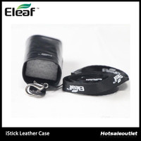 Wholesale Ego Battery Lanyards - Ismoka eleaf istick Leather Case Carry Cases With Ego Lanyard Ring iStick Battery Carry Bags