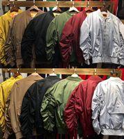 Wholesale Fashio Men - Fear Of God Jacket Men Autumn Winter 1:A High Quality MA-1 Bomber Coat Flight Air Force Pilot Fashio Hip Hop Fear Of God Jacket