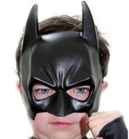 Wholesale batman costume game - The children costume ball Halloween christmas party Mask game show half face Batman mask party supplies