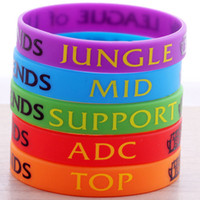 Wholesale Silicone Bracelet Game Day - New League of Legends silicone bracelets mens women wristband Game fans souvenir LOL games cuff GEL wrist band children Day Gift Jewelry