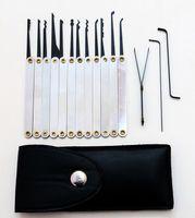 Wholesale Handle Sets Qualities - Good quality 12pcs Leather Lock Pick Case Stainless Handles w  Bag Removing Key Set Lockpick Locksmith Tools Lock Opener BK031