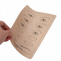 Wholesale Tattoo Sleeves Blank - Blank Eyebrow Lips For Tattoo Simulation Practice Skin for Needle Machine Supply Wholesale
