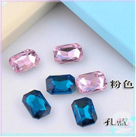 Wholesale Cheap Tongue - Cheap!13*18mm Rectangular Octagonal Rhinestone Phone Beauty Crystal Stone Beads 100PCS LOT