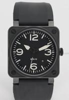 lüks swiss mekanik saat toptan satış-Sıcak Satış Erkekler Otomatik Hareketi Lüks Mekanik Siyah Kauçuk Saatı İsviçre Marka Kare Tarih Paslanmaz Erkek Elbise Saatler Düşük Fiyatlar