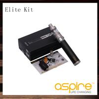 streben atlantis kits großhandel-Aspire Elite Kit mit Atlantis Mega Tank und CF MAXX 50W 3000mah Batterie 100% Original E-Zigaretten-Kit VS Kanger Evod Mega Starter Kit