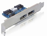 Wholesale Esata Sata Cable - Double eSATA+USB Combo 12V+5V To Dual SATA 22pin, eSATAp Adapter Card + Power ESATA cable