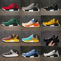 Wholesale Dark Cloud - 2017 With Box Men Human Race Pharrell Williams NMD Trail Sneakers PW N.E.R.D Clouds Moon Running Shoes Sneakers US5-US12.