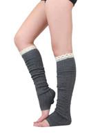 leggings de encaje hasta la rodilla al por mayor-5 color 2015 primavera otoño pierna calentador medias de encaje para mujer botas calcetines muslo calcetines Leggings pie cubierta calcetines hasta la rodilla calcetines altos D682J