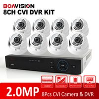 Wholesale Outdoors Camera Security System - 2015 New HDCVI System 2.0MP HD IR Outdoor Dome CVI Camera 1080P Surveillance Security CCTV System 8 Channel CCTV DVR Kit