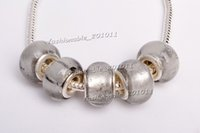 Wholesale Hot Sale Silver Murano glass Beads charms for Pandora bracelet gb0059