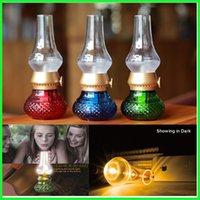Wholesale blow candles for sale - Group buy LED RETRO LAMP BLOWING Control KEROSENE VINTAGE LED Lamp Classic USB Rechargeable Kerosene Candle Night Lights DeskTable LED Lamp Novelty